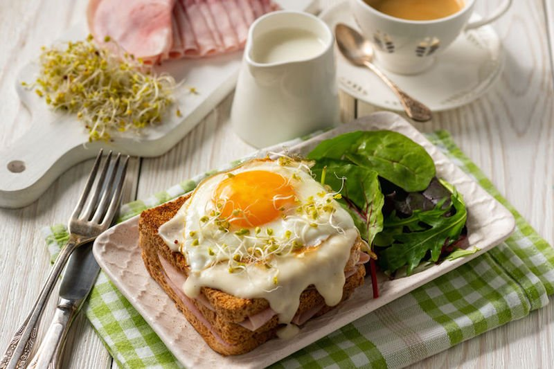 toast croque madame